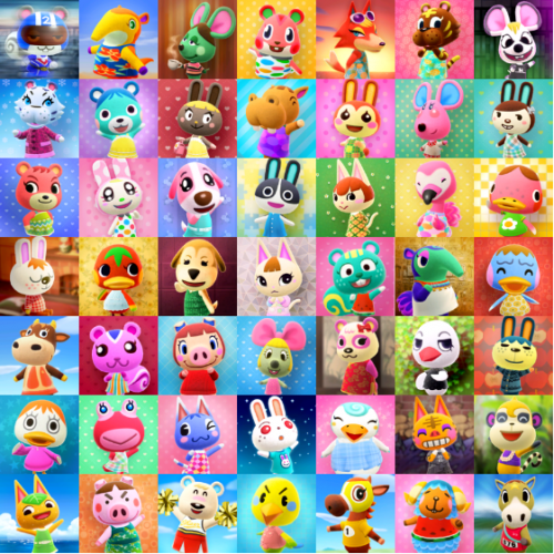 Create a Animal Crossing New Horizons: Peppy Villagers ...