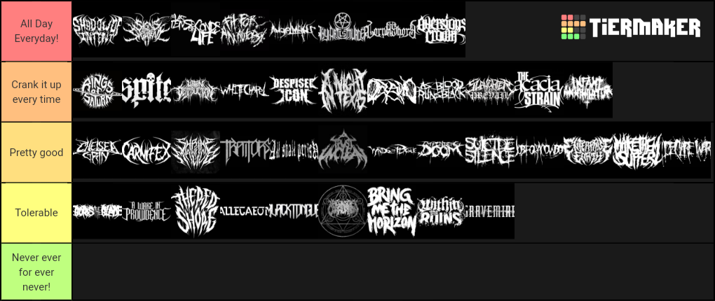 top deathcore metal bands