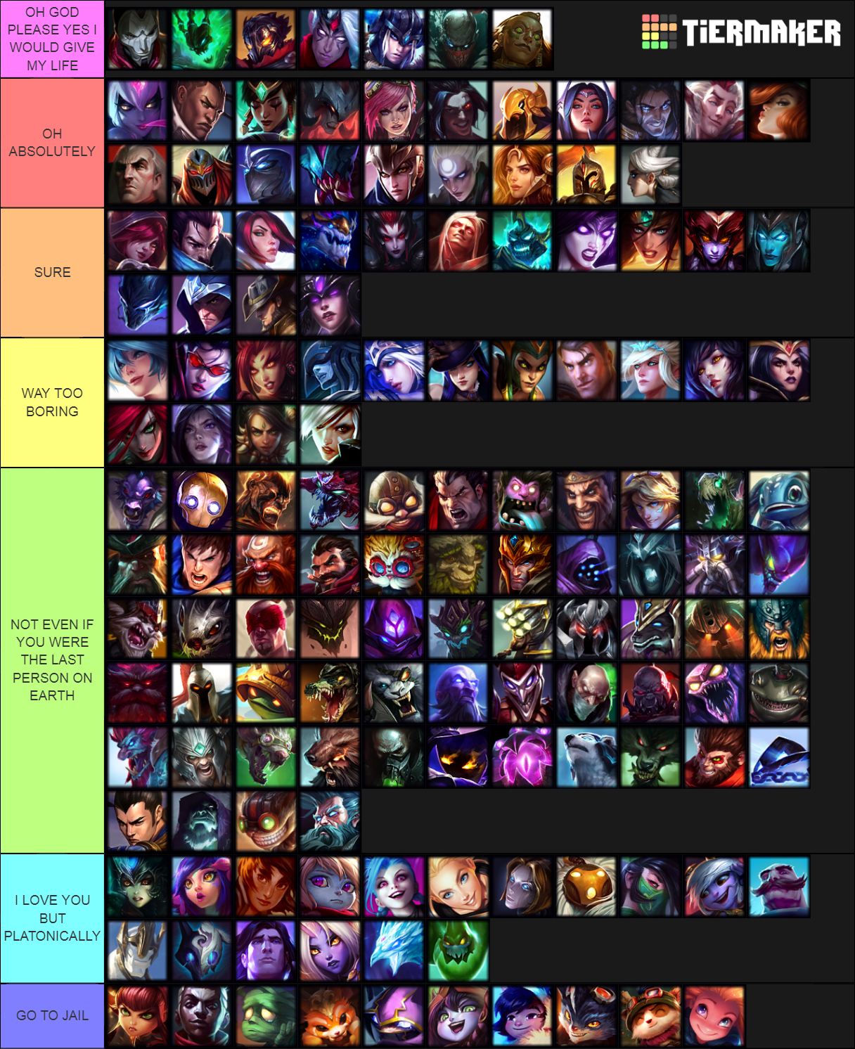Let's all do a HOTNESS TIER LIST